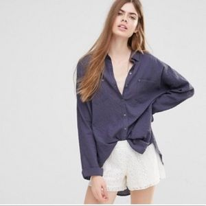 Free People Love Her Madly Top in Navy
